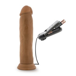 DR. SKIN THROB 9.5 INCH VIBRATING COCK WITH SUCTION CUP MOCHA