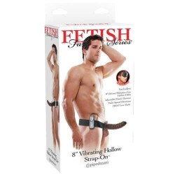 FETISH FANTASY SERIES 8 VIBRATING HOLLOW STRAP ON
