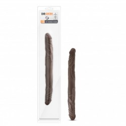 DR SKIN 16 INCH DOUBLE DILDO CHOCOLATE