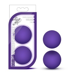 LUXE - DOUBLE O ADVANCED KEGEL BALLS - PURPLE